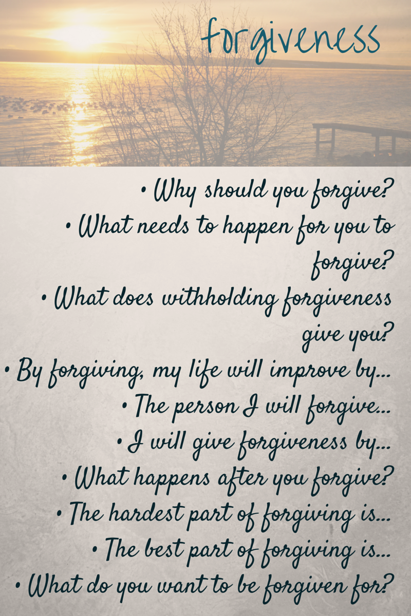 How to start a forgiveness essay